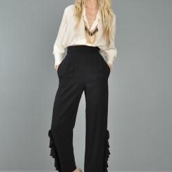 Yüksek Bel Kumaş Pantolon Kombinleri