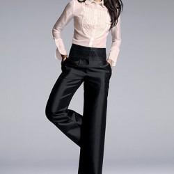 Yüksek Bel Kumaş Pantolonlar