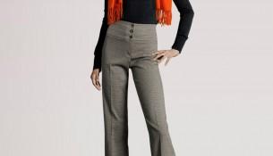 Yeni Sezon Kumaş Yüksek Bel Pantolon Modelleri