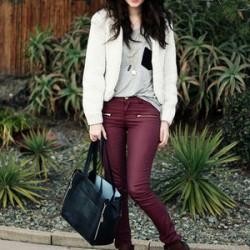 Yeni sezon mürdüm rengi pantolon modelleri