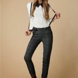 Bayan Askılı Pantolon Modeli
