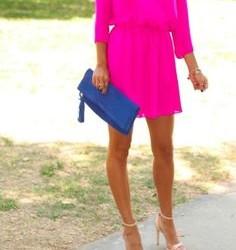 En İddialı Neon Pembe Elbise Modelleri