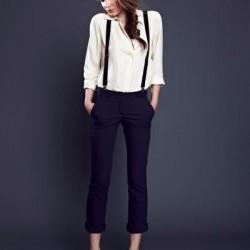 En Şık Askılı Bayan Pantolon Modelleri
