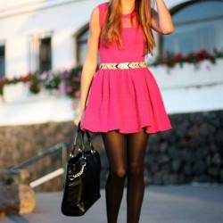En Şık Pembe Elbise Kombinleri