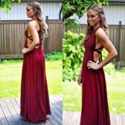 En Güzel Bordo Renkli Elbise Kombinleri