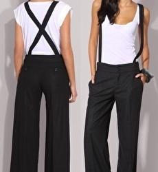 En Tarz Bayan Askılı Pantolon Modelleri