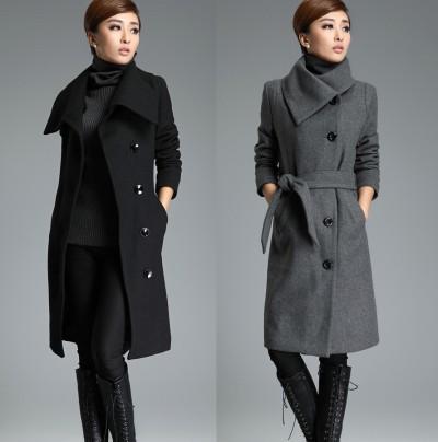 En Tarz Bayan Kaşe Kaban Modelleri 2016
