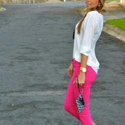 En Yeni Neon Pembe Pantolon Modelleri