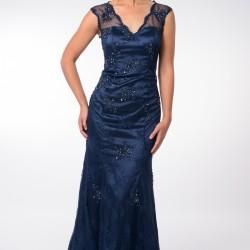 En Yeni Saks Mavisi Elbise Modelleri