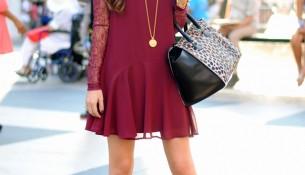 En Zarif Bordo Renkli Elbise Kombinleri