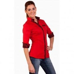 En Zarif Kırmızı Bayan Gömlek Modelleri