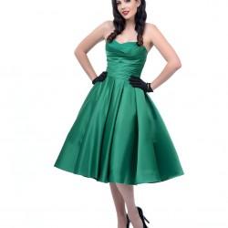 En Zarif Nostajik Zümrüt Yeşili Elbise Modelleri