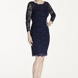 Orta Yaş Saks Mavisi Elbise Modelleri