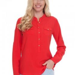 Polo Bayan Kırmızı Gömlek Modelleri