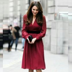 Yeni Sezon Bordo Renkli Elbise Modelleri