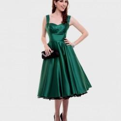 Zümrüt Yeşili Elbise Modelleri 2016