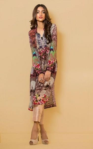 Çiçek Desenli Tunik Elbise Modeli 2016