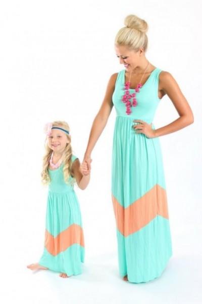Anne Kız Elbise Modelleri 2016