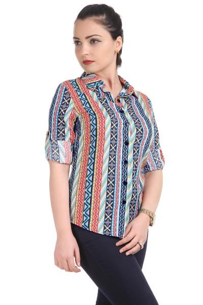 Desenli Patırtı Bayan Gömlek Modelleri