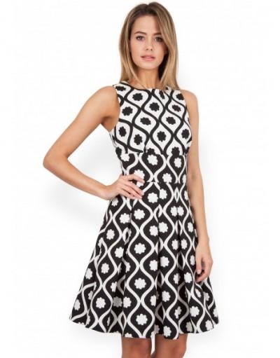 En Güzel Desenli Kloş Elbise Modeli