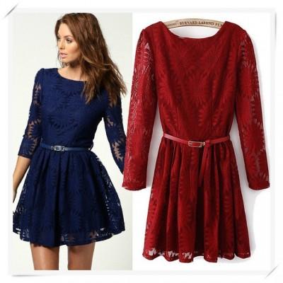 En Güzel Renkli Dantel Elbise Modelleri