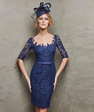 Mavi Dantelli Elbise Modelleir 2016