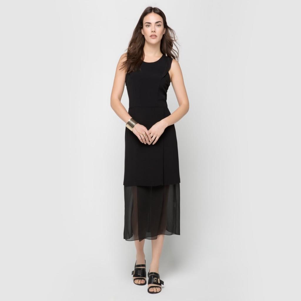 Şifon Detaylı Tül Süslemeli İpekyol Elbise Modelleri