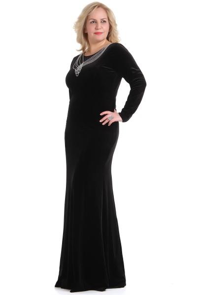 Büyük Beden Kadife Elbise Modelleri