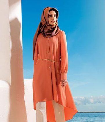 Bol Kesim Tesettür Tunik Elbise Modelleri 2016