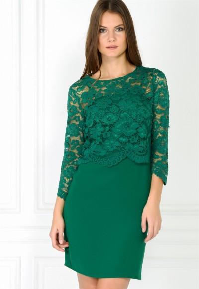 Dantel İşlemeli adL Elbise Modeli