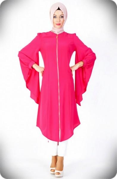 En Güzel Tesettür Tunik Elbise Modelleri