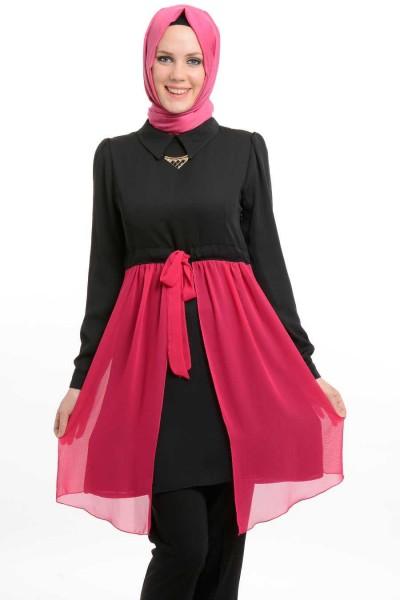 En Yeni Tesettür Tunik Elbise Modelleri