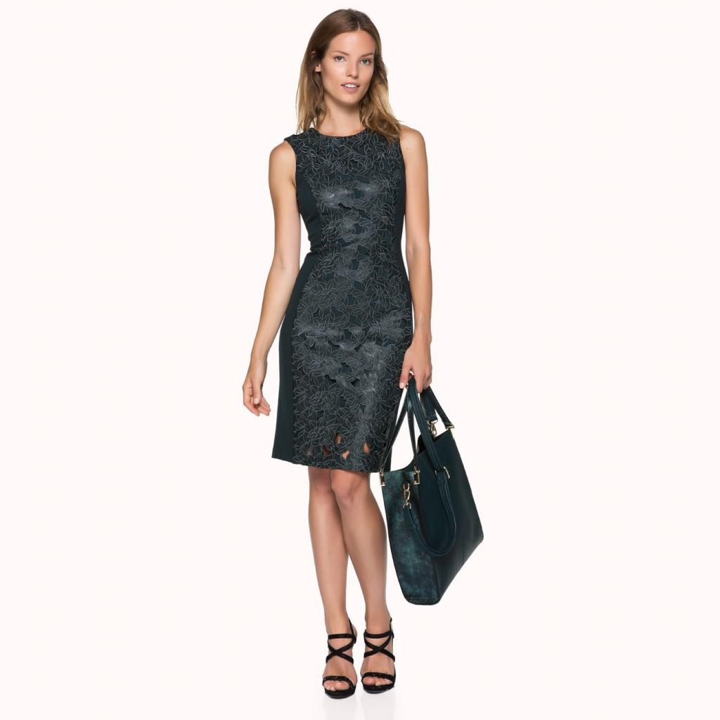 Güpürlü Deri İpekyol Elbise Modelleri