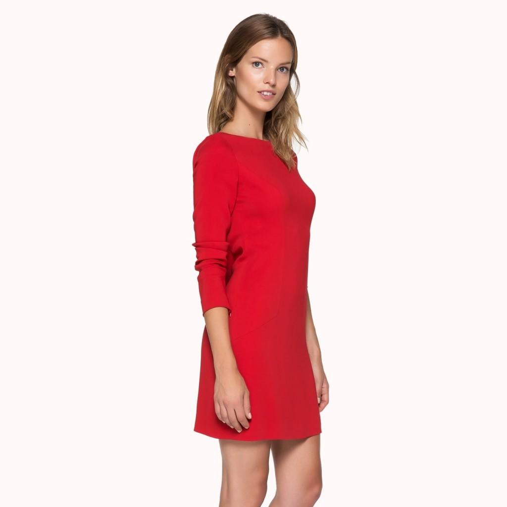 Kırmızı Renkli İpekyol Elbise Modelleri