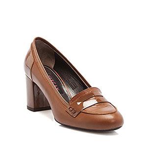 Kalın Topuklu Tergan Kışlık Bayan Ayakkabı Modelleri 2016