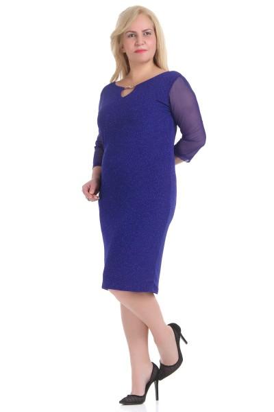 Mavi Renkli Çok Zarif Elbise Modelleri