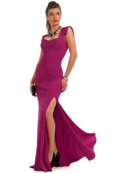 Sırt Dekolteli Oldukça Güzel Patırtı Giyim Abiye Modeli