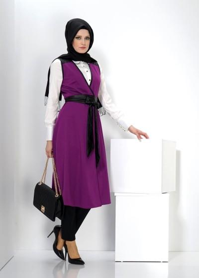 Tesettür Tunik Elbise Modelleri 2016