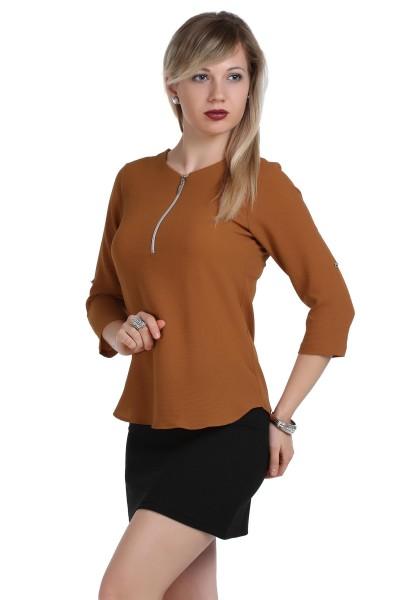 Fermuar Detaylı Patırtı Bluz Modelleri