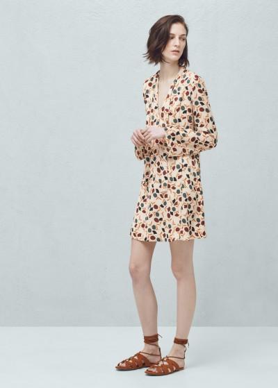Çiçek Desenli MAngo Elbise Modeli 2016