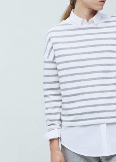 Çizgili En Hoş Mango Sweatshirt Modelleri