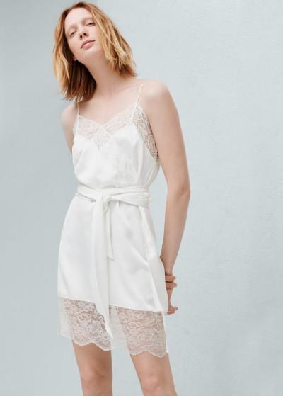 2016 Mango Apikli Dantelli Elbise Modeli
