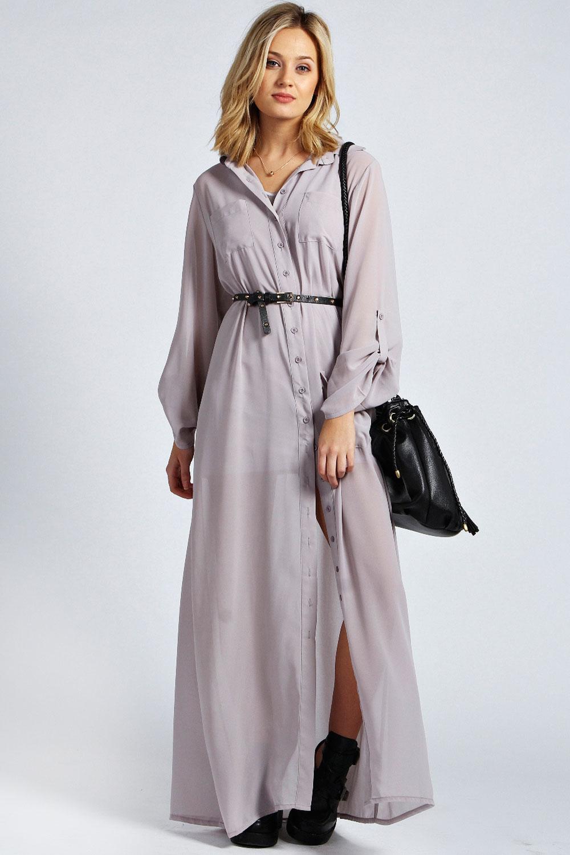 2016 Uzun Gömlek Elbise Modeli