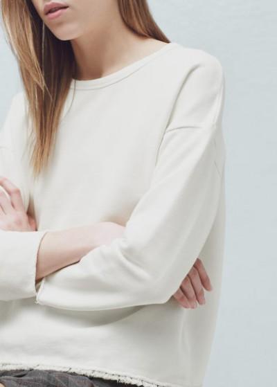Beyaz Renkli En Yeni Mango Sweatshirt Modelleri