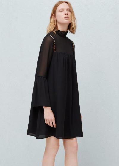 En Güzel Kloş Kollu Mango Elbise Modeli