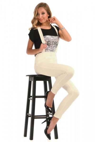 En Güzel Yüksek Bel Salopet Pantolon Modelleri