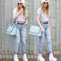 En Tarz 20 Yaş Yırtık Jean Modası