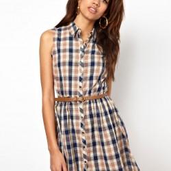 Kemer Detaylı Oduncu Gömlek elbise Modelleir