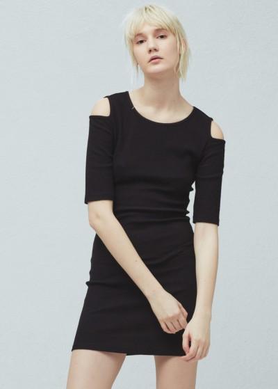 Mango Omuzları Açık Elbise Modeli