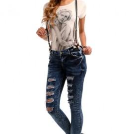 Patırtı Giyim Yırtık Salopet Pantolon Modelleri